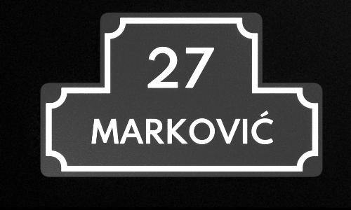 3d štampa pločica za poštansko sanduče u ulazu zgrade sa prezimenom i brojem stana